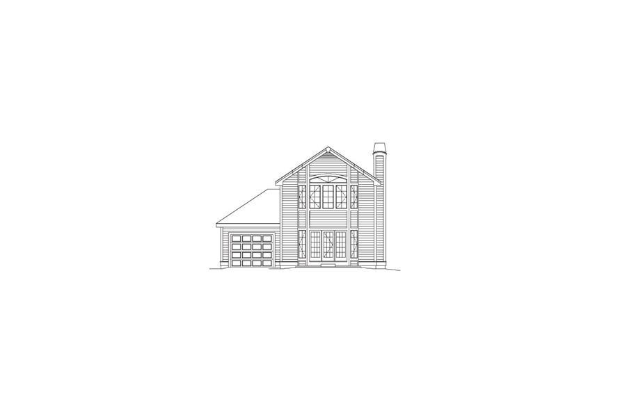 138-1063: Home Plan Rear Elevation