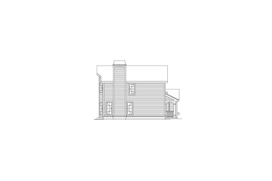 138-1063: Home Plan Left Elevation