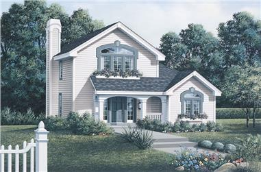 2-Bedroom, 1294 Sq Ft Country Home Plan - 138-1063 - Main Exterior