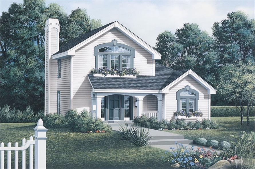 Front elevation of Country home (ThePlanCollection: House Plan #138-1063)