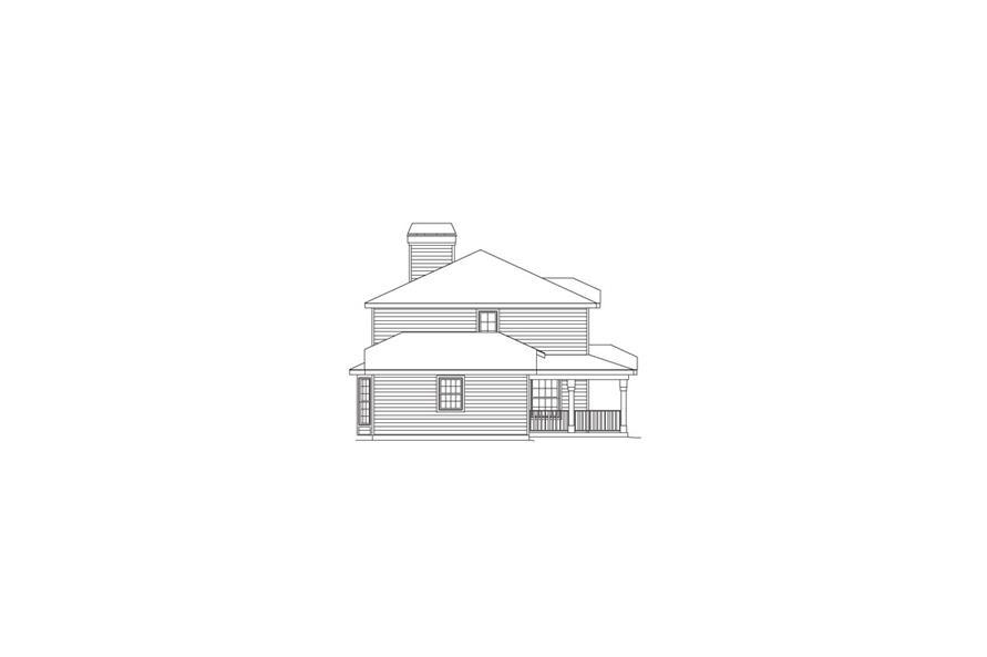 138-1064: Home Plan Left Elevation