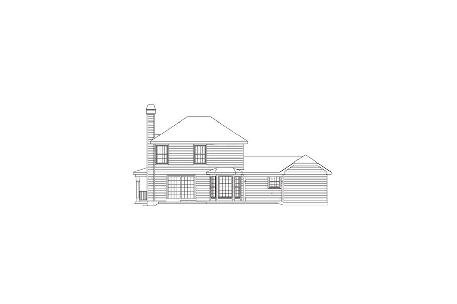 138-1064: Home Plan Rear Elevation