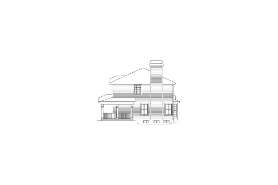 138-1064: Home Plan Right Elevation