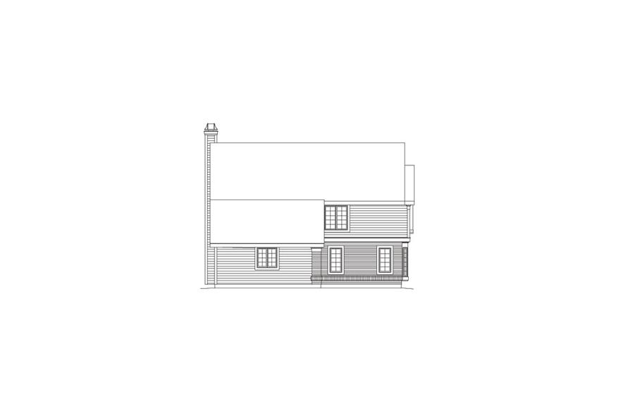 Home Plan Left Elevation of this 5-Bedroom,2012 Sq Ft Plan -138-1065