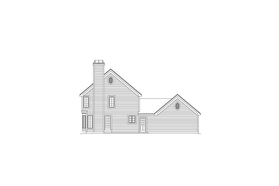 Home Plan Rear Elevation of this 5-Bedroom,2012 Sq Ft Plan -138-1065