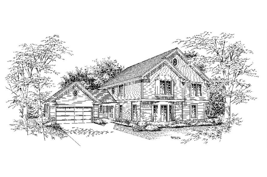 Home Plan Rendering of this 5-Bedroom,2012 Sq Ft Plan -2012