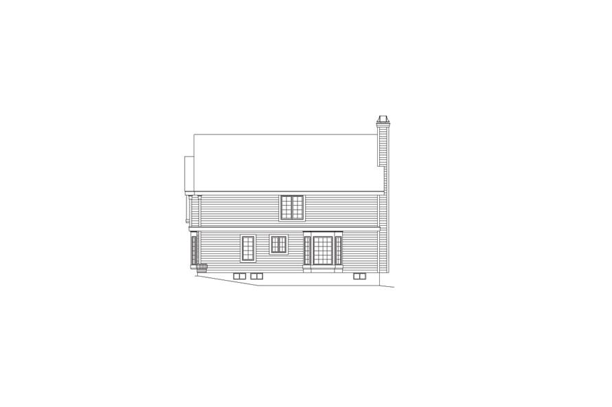 Home Plan Right Elevation of this 5-Bedroom,2012 Sq Ft Plan -138-1065