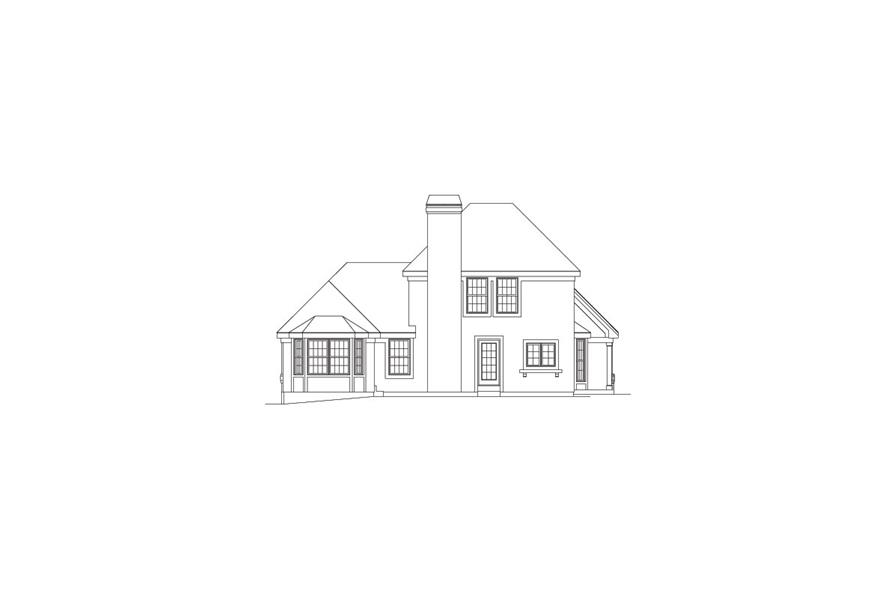 138-1066: Home Plan Rear Elevation