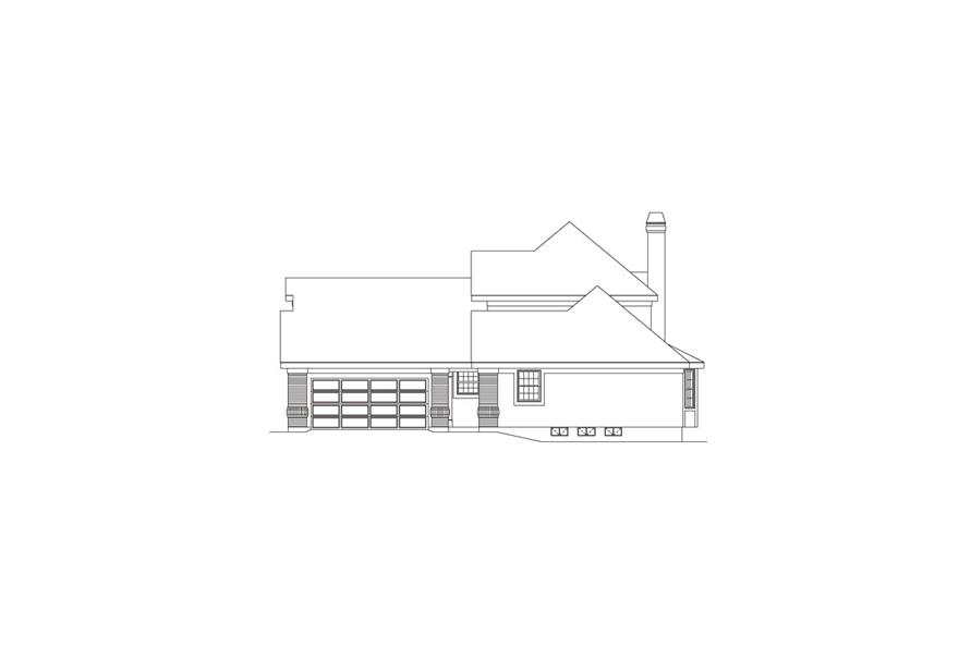 138-1066: Home Plan Right Elevation