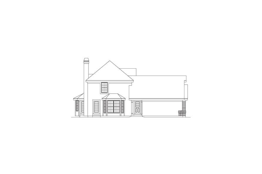 138-1066: Home Plan Left Elevation