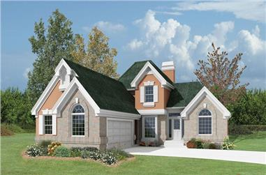 3-Bedroom, 1619 Sq Ft Country Home Plan - 138-1066 - Main Exterior