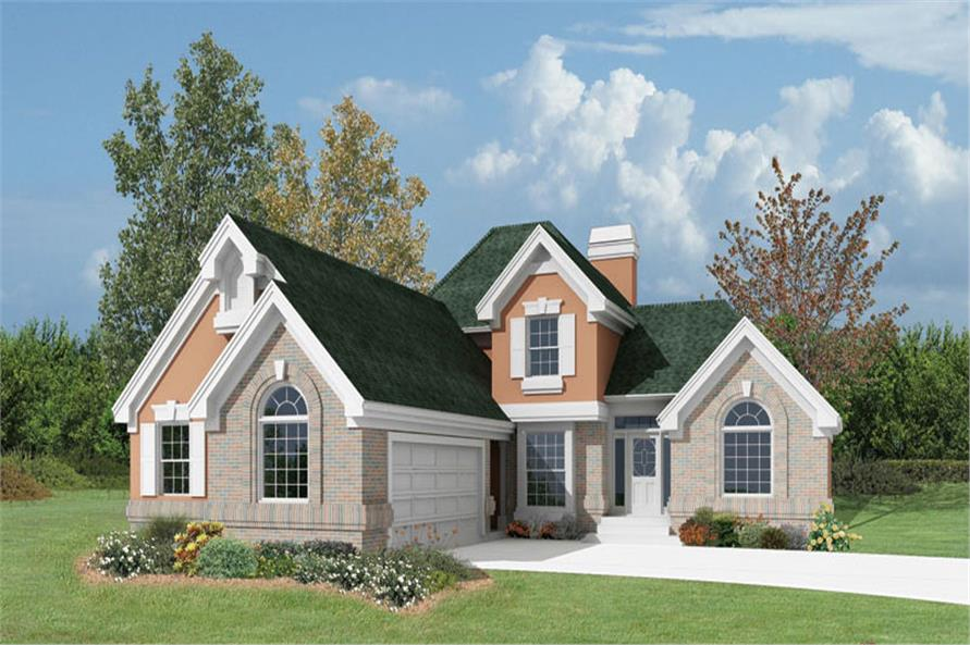 Front elevation of Country home (ThePlanCollection: House Plan #138-1066)