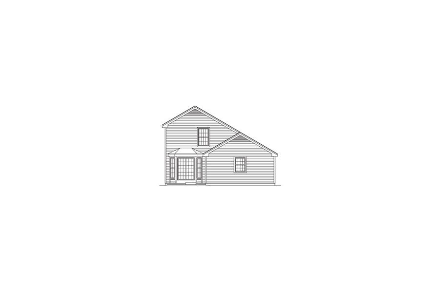 Home Plan Left Elevation of this 4-Bedroom,1330 Sq Ft Plan -138-1067