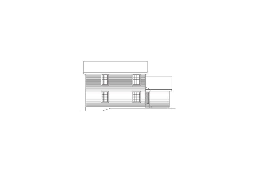 Home Plan Rear Elevation of this 4-Bedroom,1330 Sq Ft Plan -138-1067