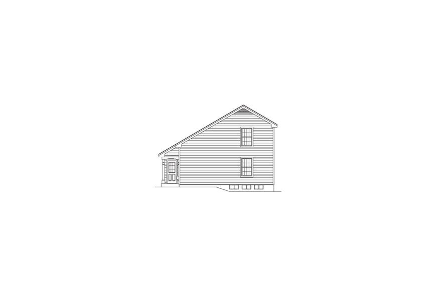Home Plan Right Elevation of this 4-Bedroom,1330 Sq Ft Plan -138-1067