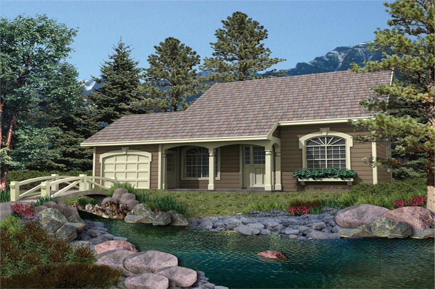 4-Bedroom, 1330 Sq Ft Country Home Plan - 138-1067 - Main Exterior