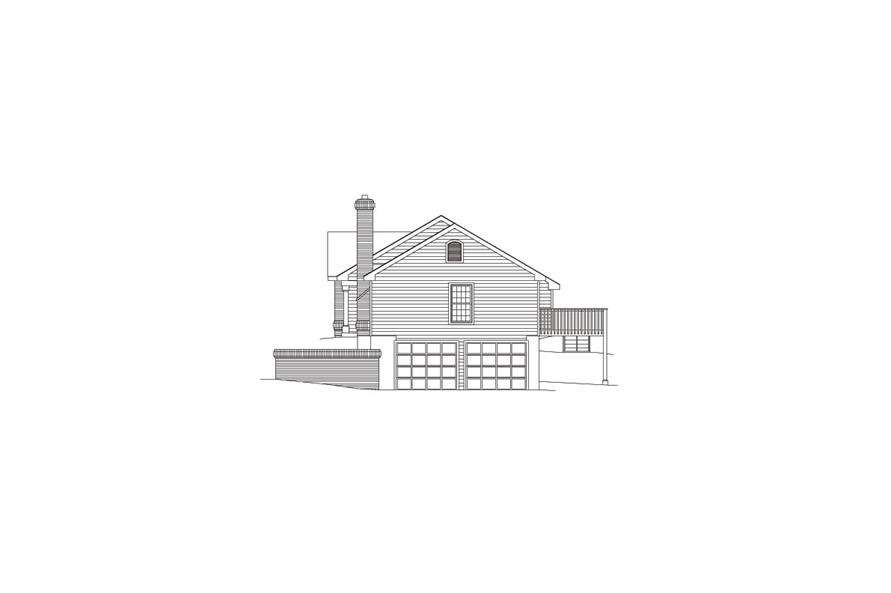 138-1068: Home Plan Right Elevation