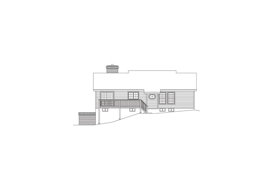 138-1068: Home Plan Rear Elevation