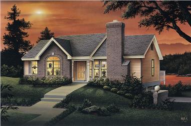 3-Bedroom, 1403 Sq Ft Ranch Home Plan - 138-1068 - Main Exterior