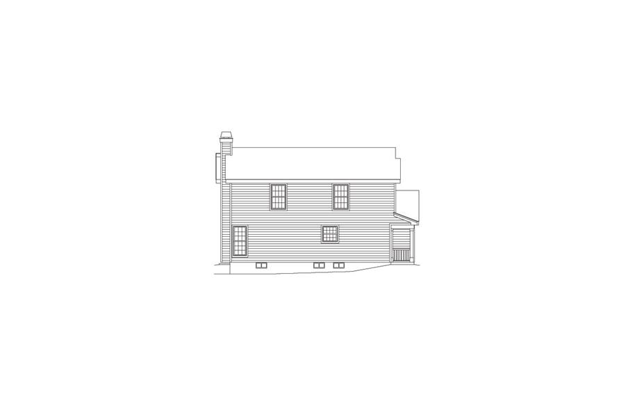 138-1069: Home Plan Left Elevation