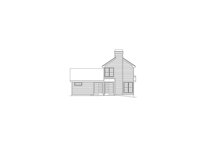 138-1069: Home Plan Rear Elevation