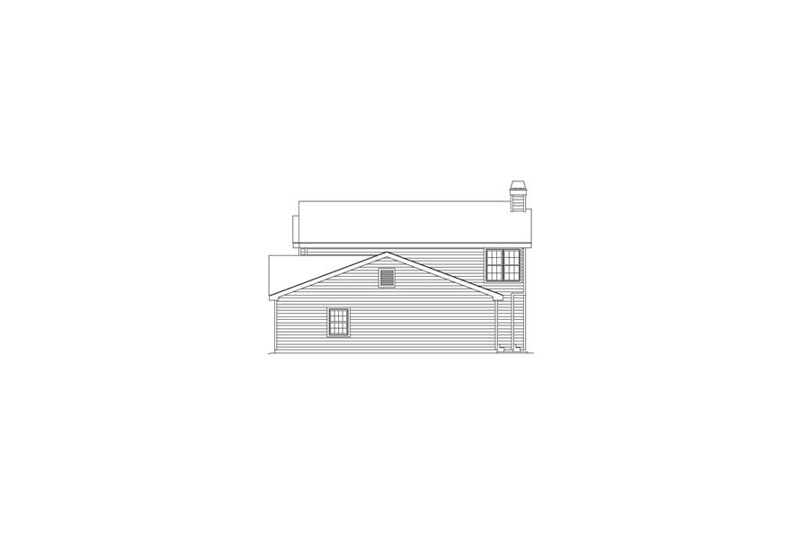 138-1069: Home Plan Right Elevation