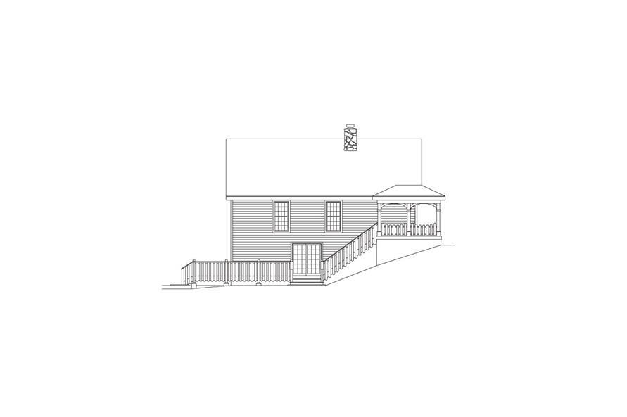 138-1070: Home Plan Left Elevation