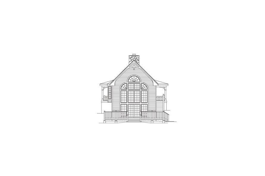 138-1070: Home Plan Rear Elevation