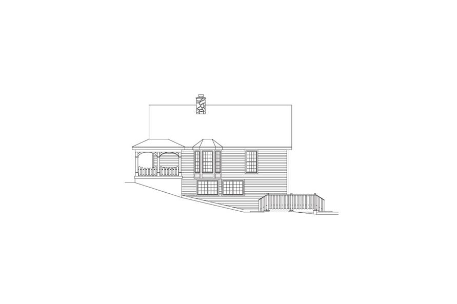 138-1070: Home Plan Right Elevation