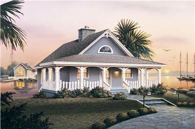 2-Bedroom, 1530 Sq Ft Country Home Plan - 138-1070 - Main Exterior