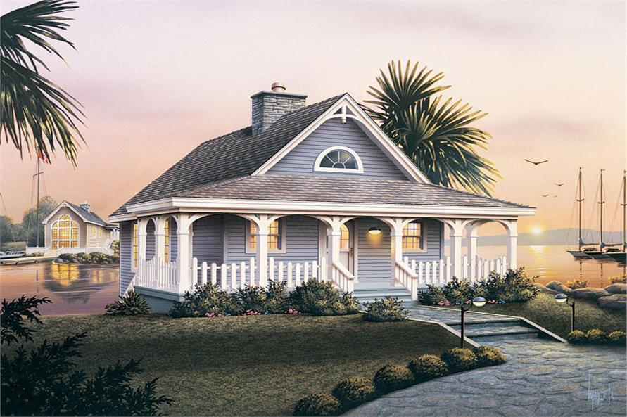 Front elevation of Country home (ThePlanCollection: House Plan #138-1070)