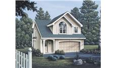 Front elevation of Garage w/Apartments home (ThePlanCollection: House Plan #138-1071)