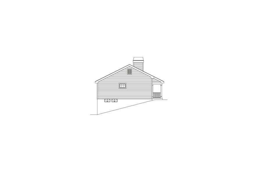 138-1072: Home Plan Left Elevation