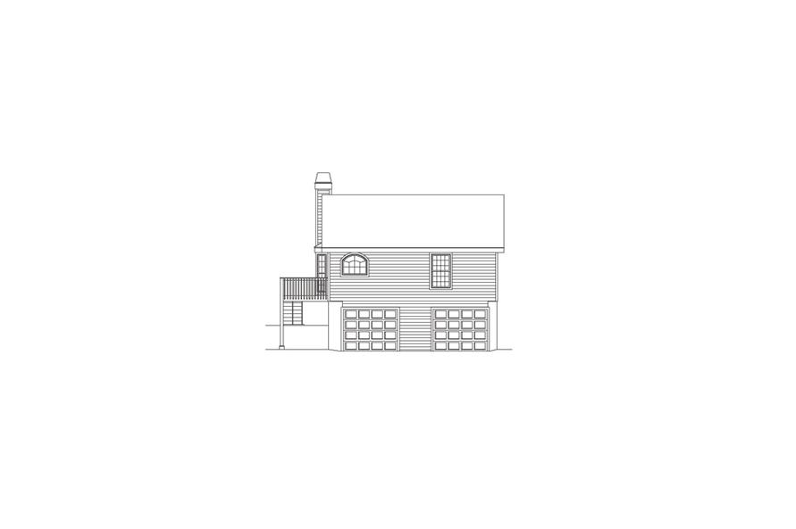 138-1072: Home Plan Rear Elevation