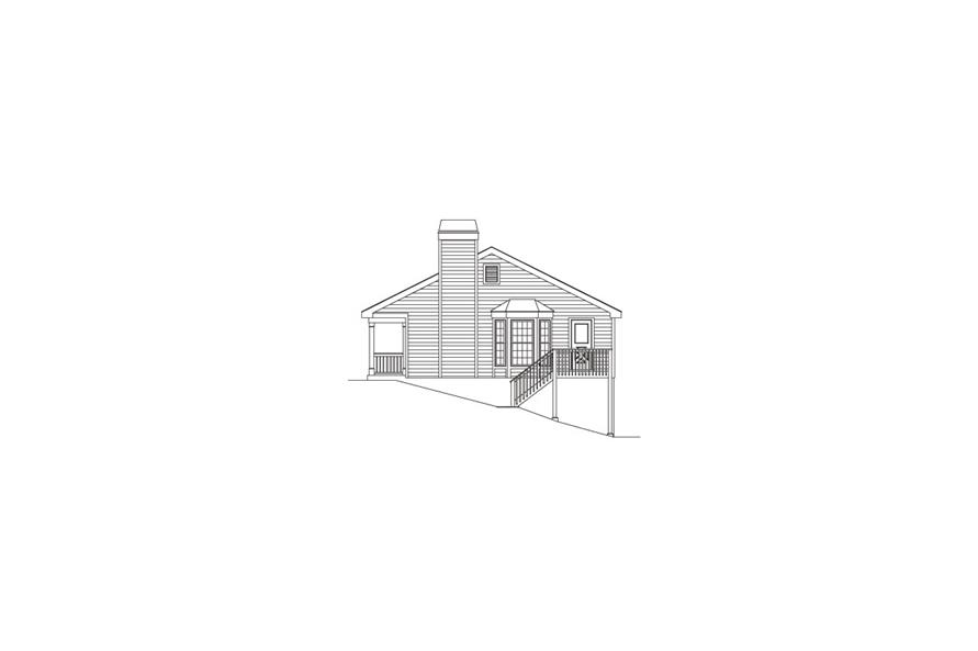 138-1072: Home Plan Right Elevation