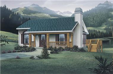 Front elevation of Small House Plans home (ThePlanCollection: House Plan #138-1072)
