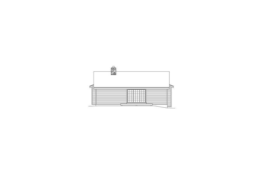 138-1073: Home Plan Rear Elevation