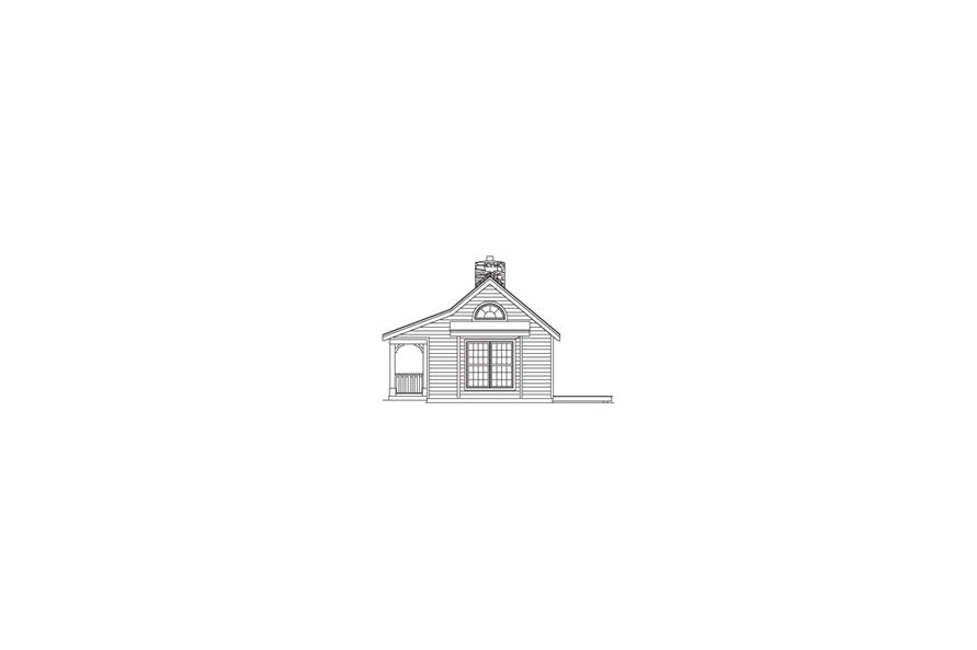 Home Plan Right Elevation of this 1-Bedroom,647 Sq Ft Plan -138-1073