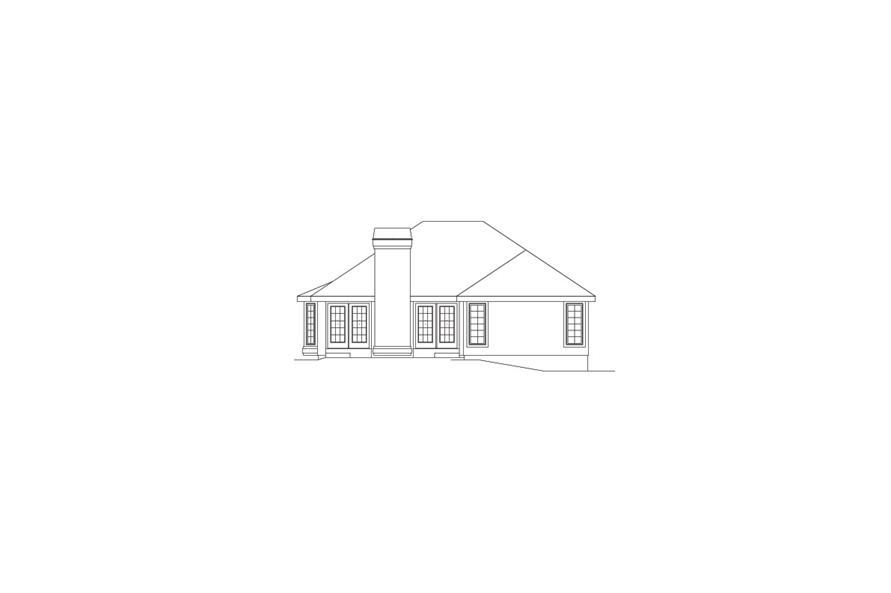 138-1074: Home Plan Rear Elevation