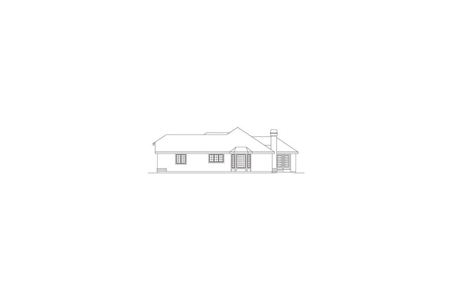 138-1074: Home Plan Right Elevation