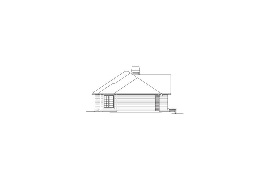 138-1075: Home Plan Left Elevation