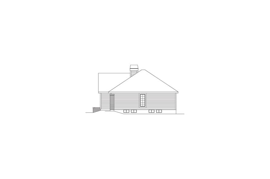 138-1075: Home Plan Right Elevation