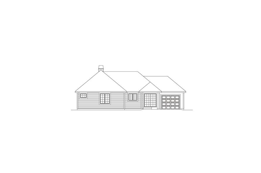 138-1075: Home Plan Rear Elevation