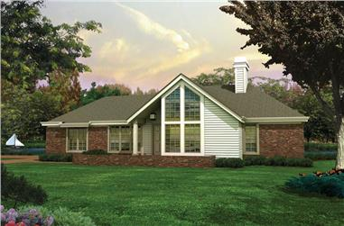 3-Bedroom, 1321 Sq Ft Contemporary House Plan - 138-1075 - Front Exterior