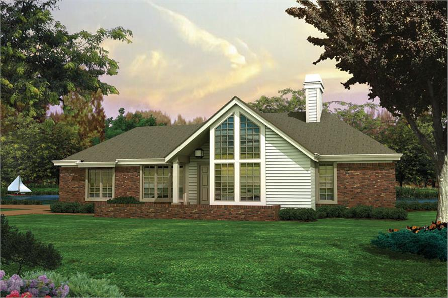 Front elevation of Contemporary home (ThePlanCollection: House Plan #138-1075)