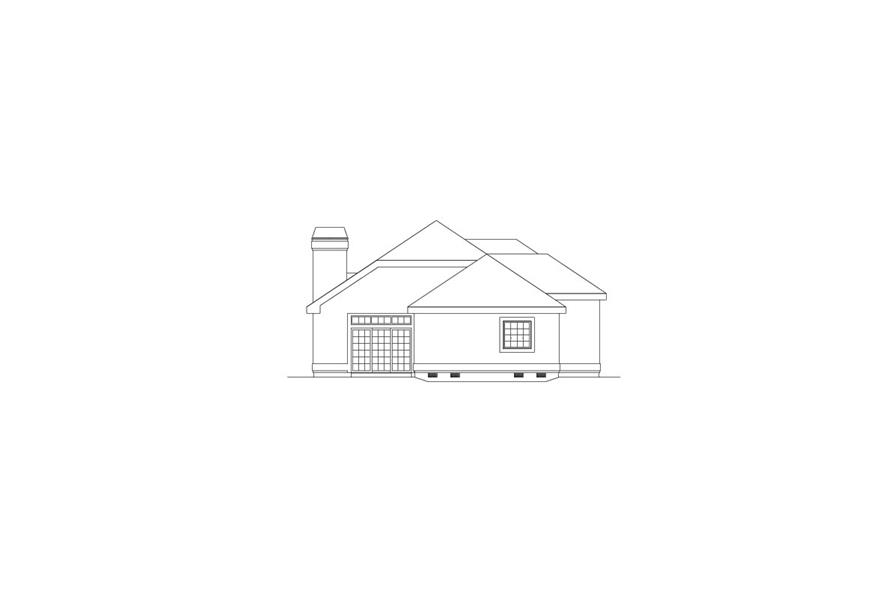 138-1076: Home Plan Left Elevation