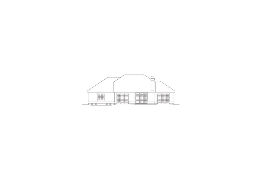 138-1076: Home Plan Rear Elevation