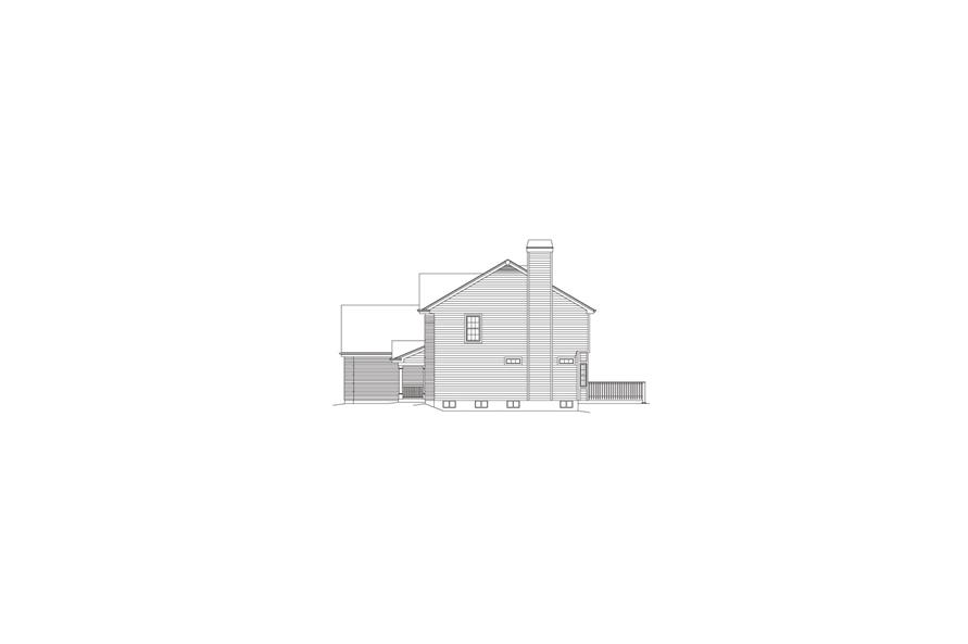 138-1077: Home Plan Right Elevation