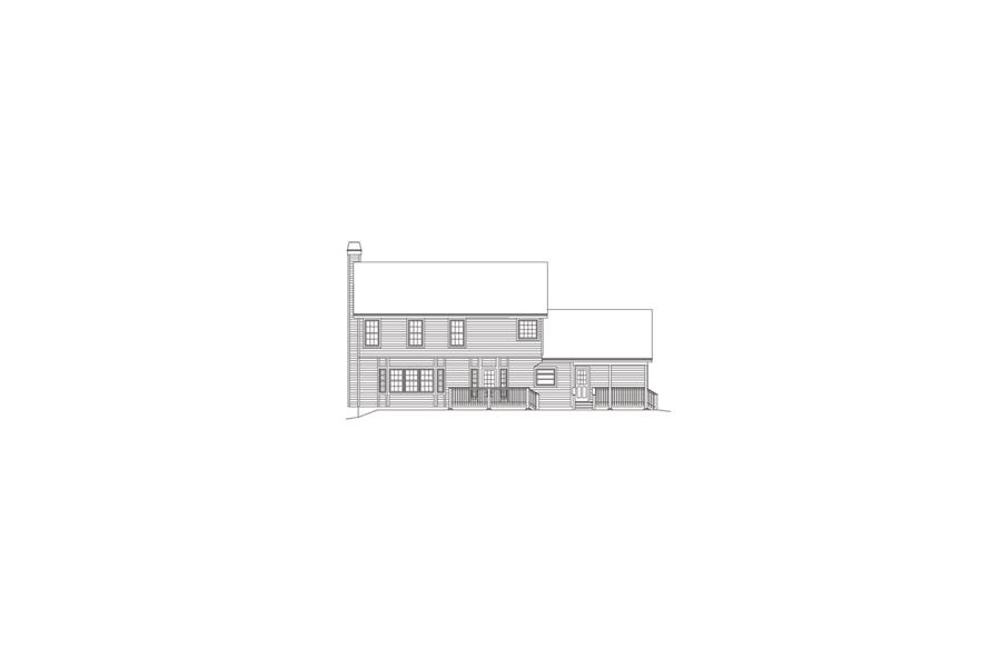 138-1077: Home Plan Rear Elevation