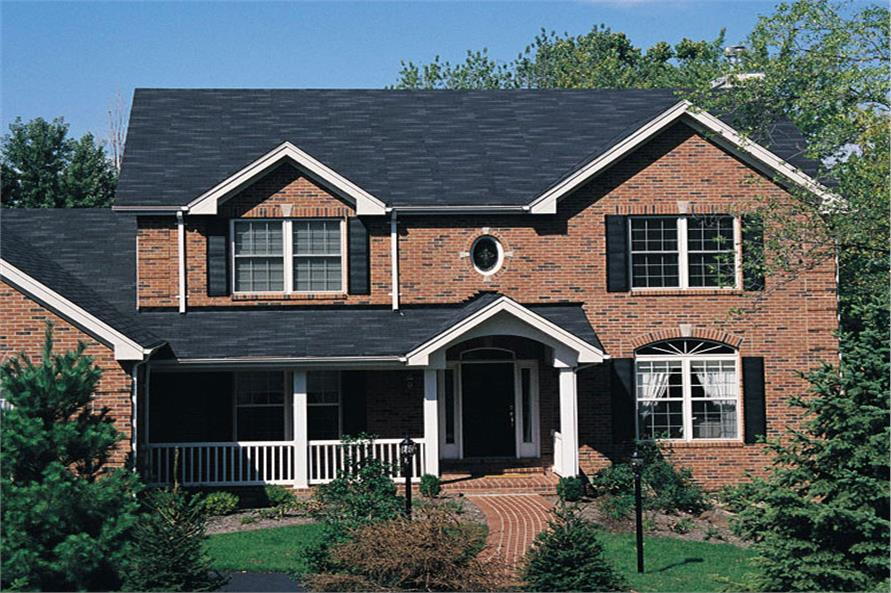 Front elevation of Traditional home (ThePlanCollection: House Plan #138-1077)